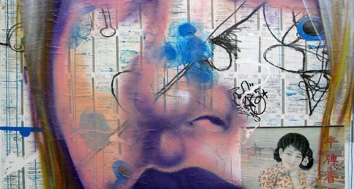 Daze  2001  Agenda Painting 18 180 X 170 Cm    Copie