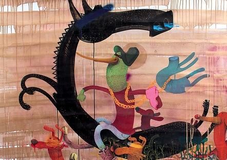 Alexone  2008  Turquoise                                150 X 140 Cm   Copie