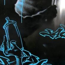 Blue  Jazi  120x80 Fond Noir