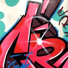 Crash By Crash 90 X 90 Cm, 2013 Spray Paint On Alumnium