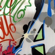 Crash A From Crash 90 X 90 Cm, 2013 Spray Paint On Alumnium