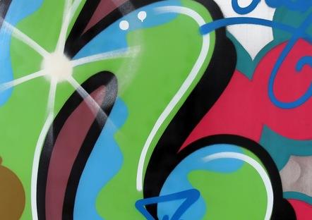 Crash Classic H 90 X 90 Cm, 2013 Spray Paint On Alumnium