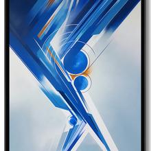 1.Xavier Magaldi Concrete Thoughts,   Bleu   100 X80cm – Aquarelle – Aerosol – Acrylique – 2016
