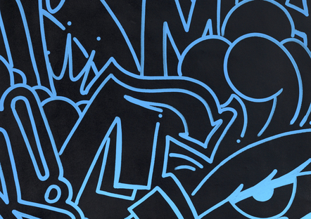 9. Midnight Blue Icons, 80 X 80 Cm, 2017   Copie
