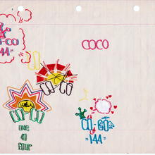 "9. Coco 144 ""Flair Drawings"" 21.5x 26.30cm 1973   Copie"