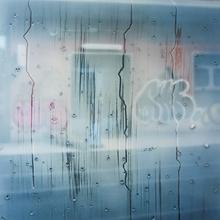 13h08, En Ville, 100x73cm, Acrylique Sur Toile Et Plexiglas, 2017 (Copier)