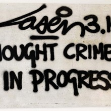 15. Laser314 Thought Crimes In Progress 40x60 Speerstra2019