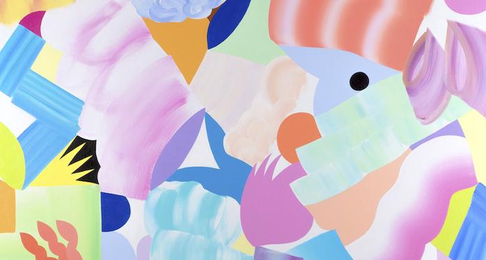 7. Ma Marche, 100x100cm, Acrylique Sur Lin, 2020 Copie 2