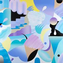 8 Paysage Blue 80x100cm Acrylique Sur Lin 2020 Copie