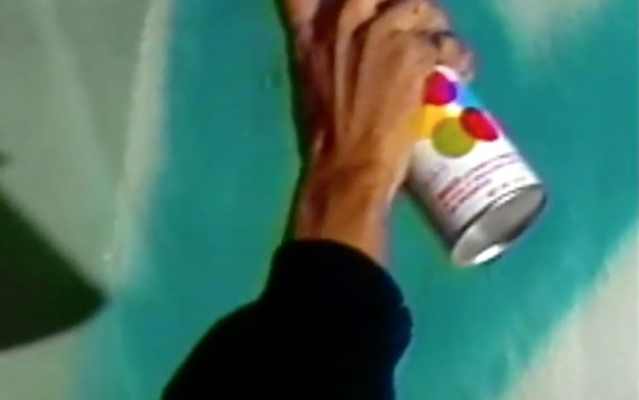 Fashion Moda - 1986 - Painting collaboration event features Ronnie Catrone, Mark Kostabi, Crash, Daze, Rick Prol, James Poppitz.